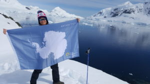 Allison in Antarctica