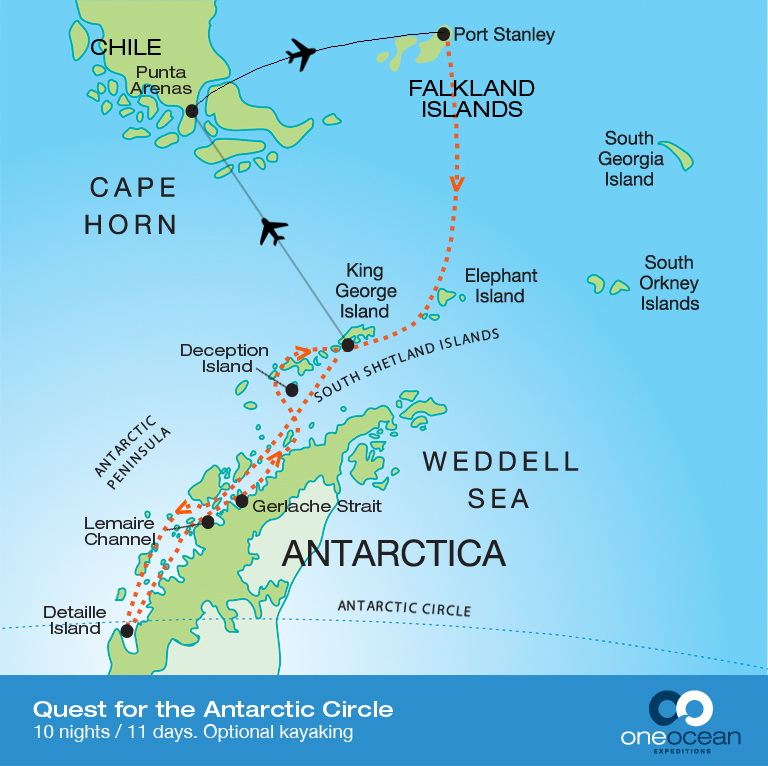 Quest for the Antarctic Circle – The Great Canadian Travel Co.