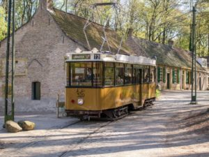 yellow trolley in arnhern