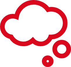 icon of a cloud - idea